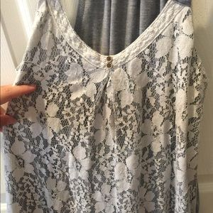 Rewind lace tank top